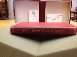 The Boy Castaways. . .at rest at the Beinecki Library at Yale University