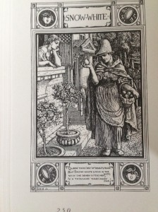 An old print from a Brothers Grimm edition of Snow White reprinted in The Annotated Brothers Grimm edited by Maria Tatar.